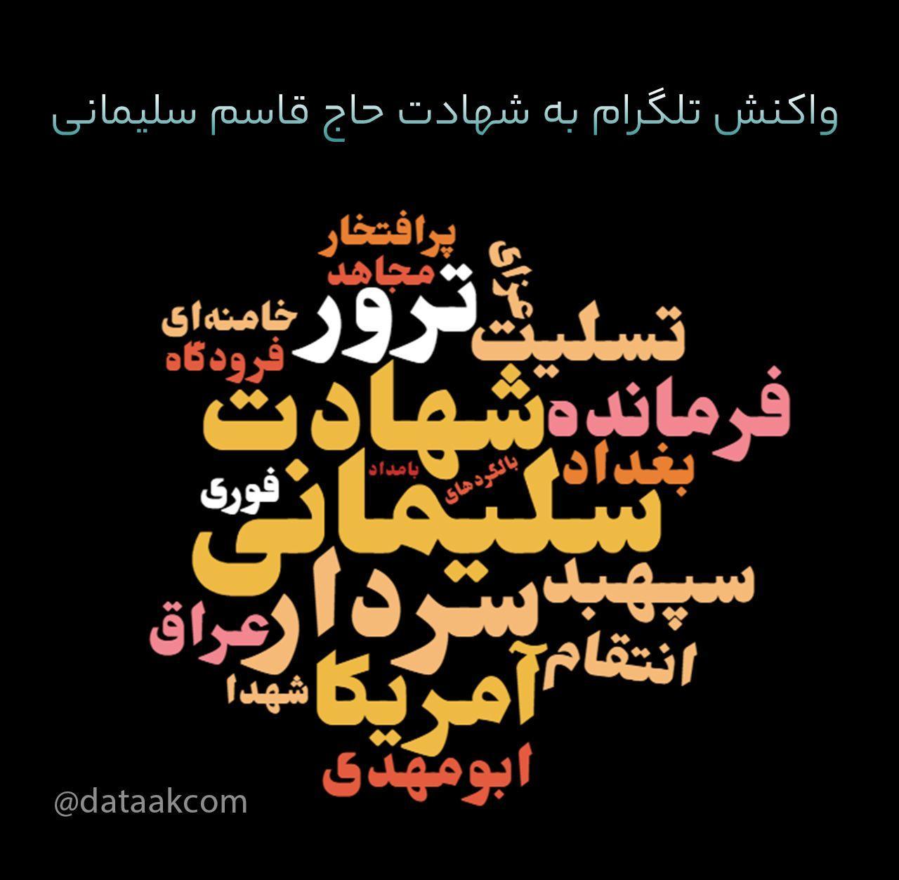 هشتگ تلگرام در شهادت حاج قاسم