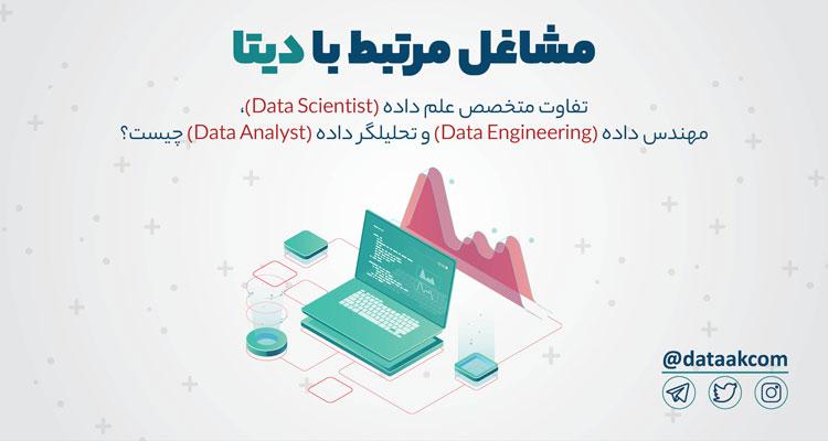 Photo of مشاغل مرتبط با دیتا | تفاوت متخصص علم داده، مهندس داده و تحلیلگر داده چیست؟